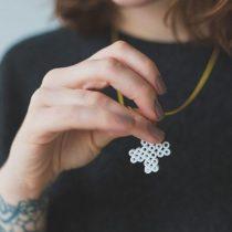 Grown up perler bead necklace DIY