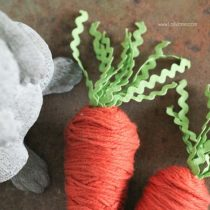 Yarn wrapped carrots – sweet little DIY