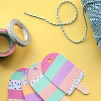 Washi tape ice lolly bunting
