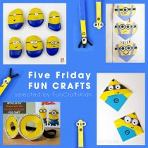 Minions: Five Fun Crafts For Friday From FunCraftsKids