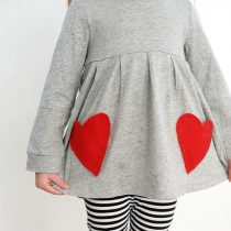 No sew heart pocket DIY