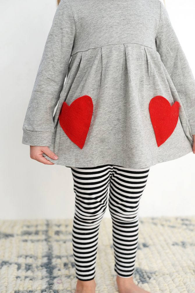 No sew heart pocket DIY