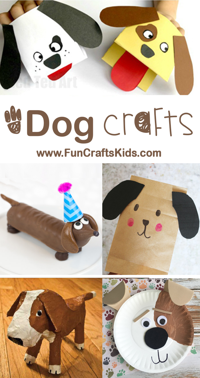 Super Cute Dog Crafts for Kids to Make