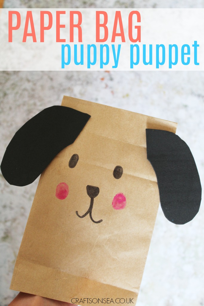 Paper Bag Easy Puppy Craft For Kids Puppet Fun Crafts Kids