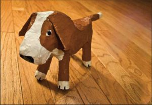 papermache dog