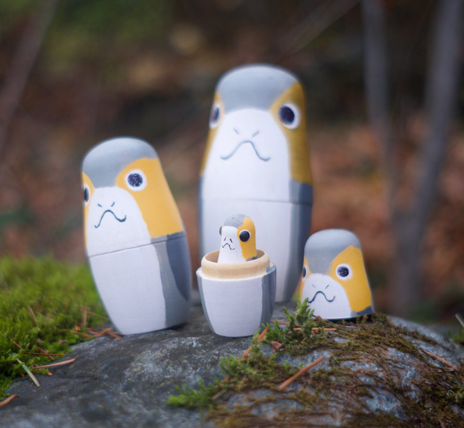 star-wars-porg-nesting-dolls outdoors