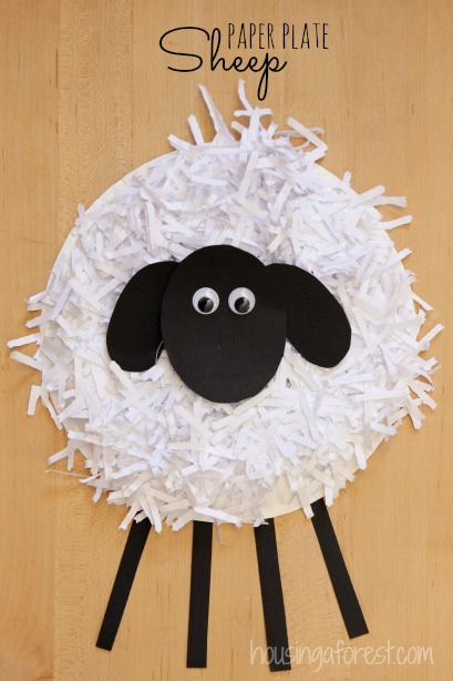 Paper Plate Sheep Craft