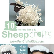 10 Spring Lamb and SHEEP CRAFTS FOR KIDS