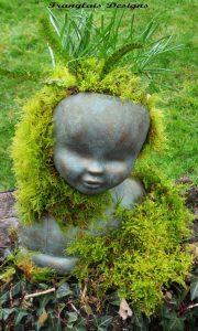 ... Franglais Designs Doll Head Planter