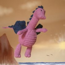 Knitted Dragon DIY for neonatal charity