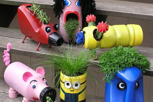 Cute Upcycled Planters for Kids