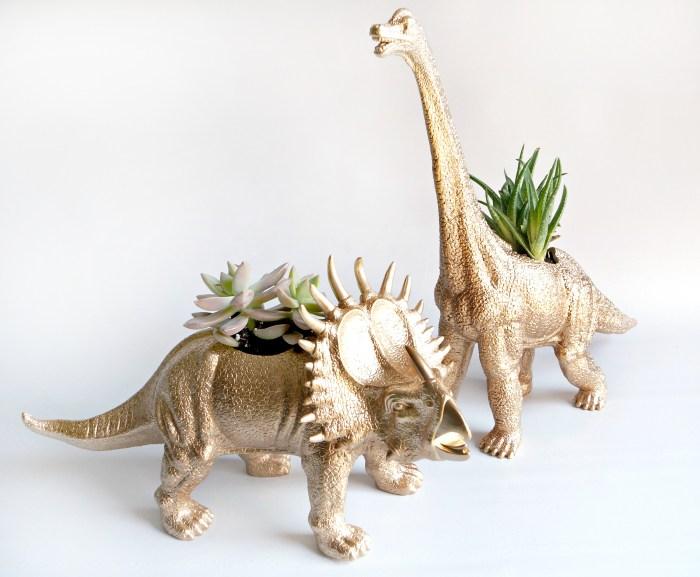 Dinosaur Planters DIY