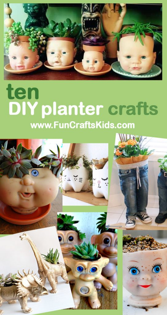 Doll-Head-upcycled-Planter-Crafts-from-FunCraftsKids