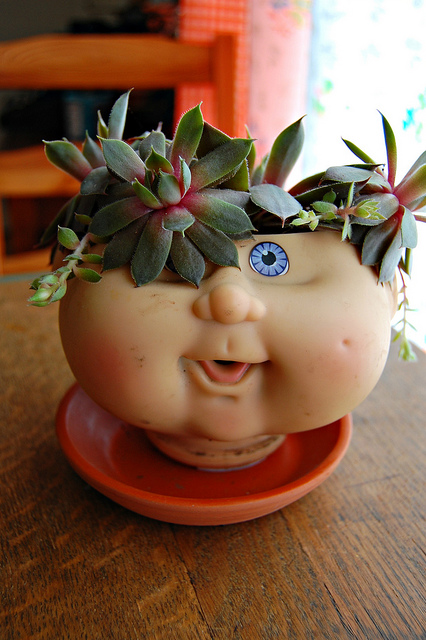 Cabbage Patch Doll Planter