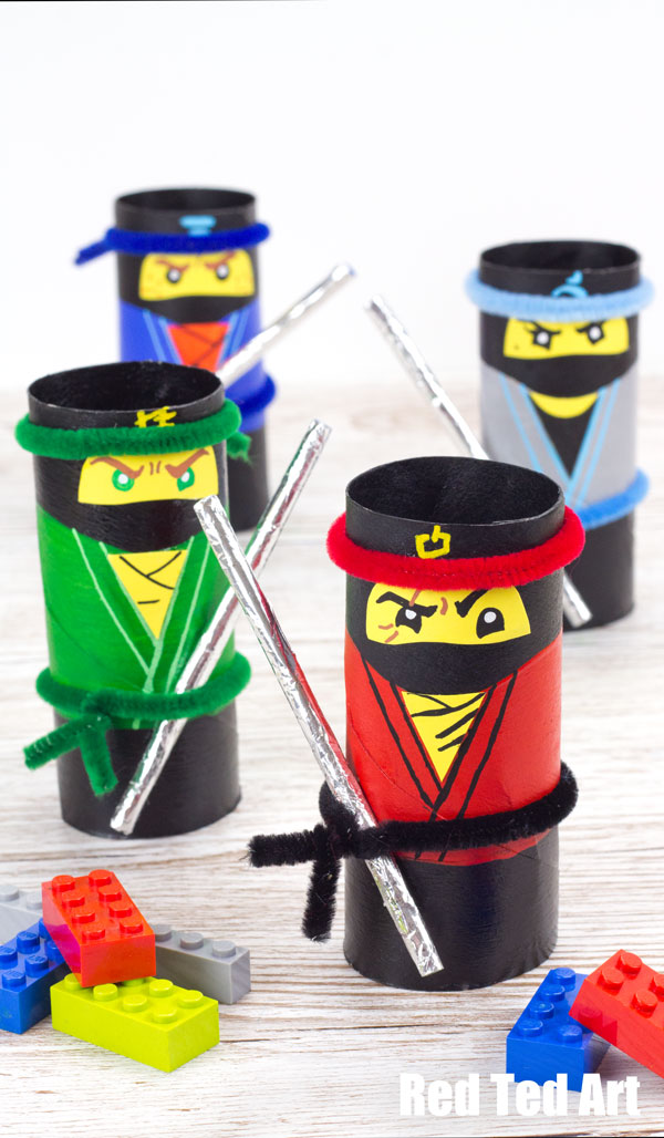 Lego - Ninjas - Toilet Roll- Craft