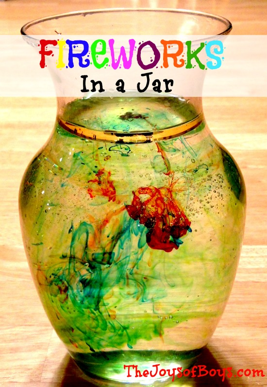 Fireworks-in-a-jar craft