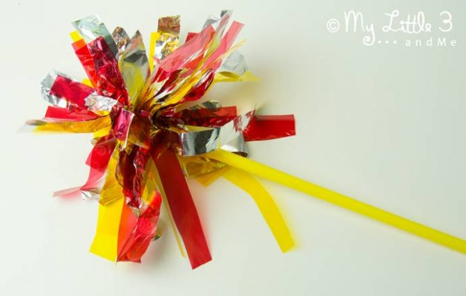 Firework sparkler craft for kids