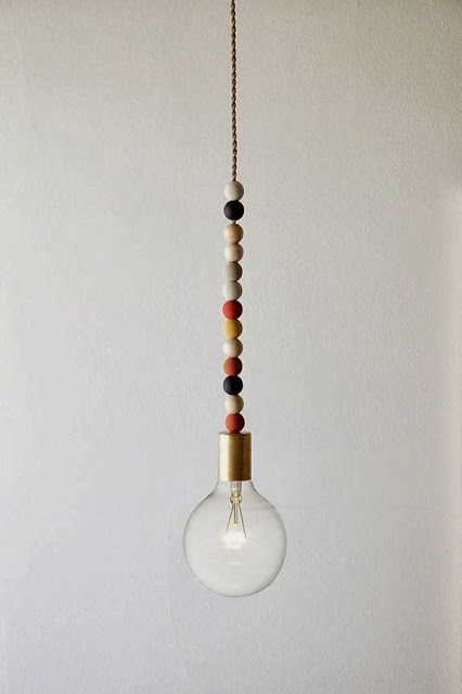 wooden bead light fixing