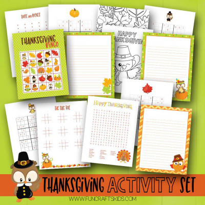 Free Printable Thanksgiving Activity Set