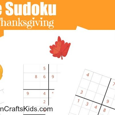 Four Free Printable Thanksgiving Sudoku Puzzles