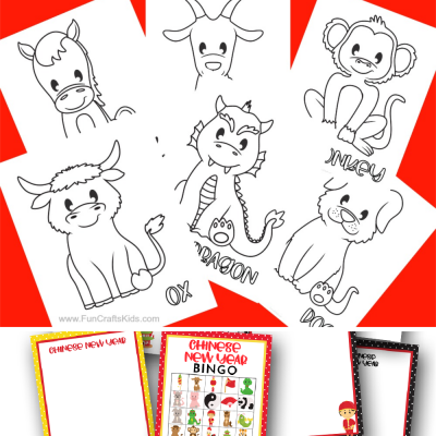 12 Free Printable Chinese Zodiac Coloring Pages