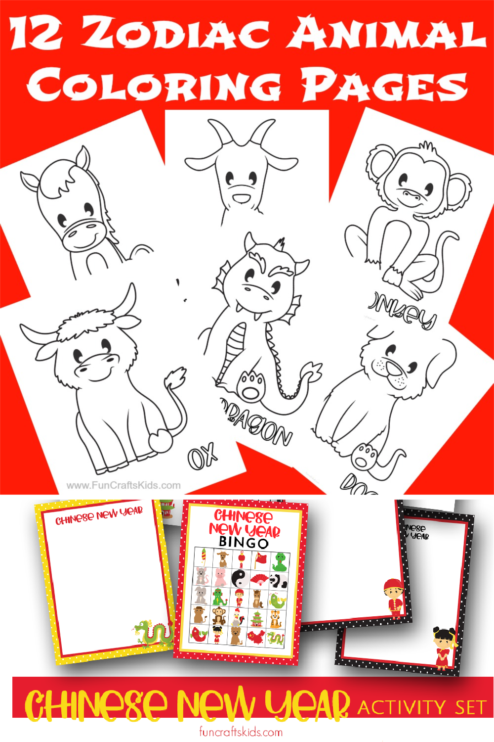12 Free Printable Chinese Zodiac Coloring Pages Fun Crafts Kids