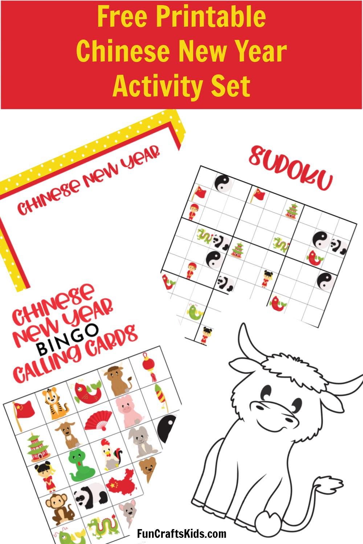 Free Printable Chinese New Year Activity Set Fun Crafts Kids