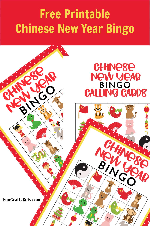 Free Printable Chinese New Year Bingo Fun Crafts Kids