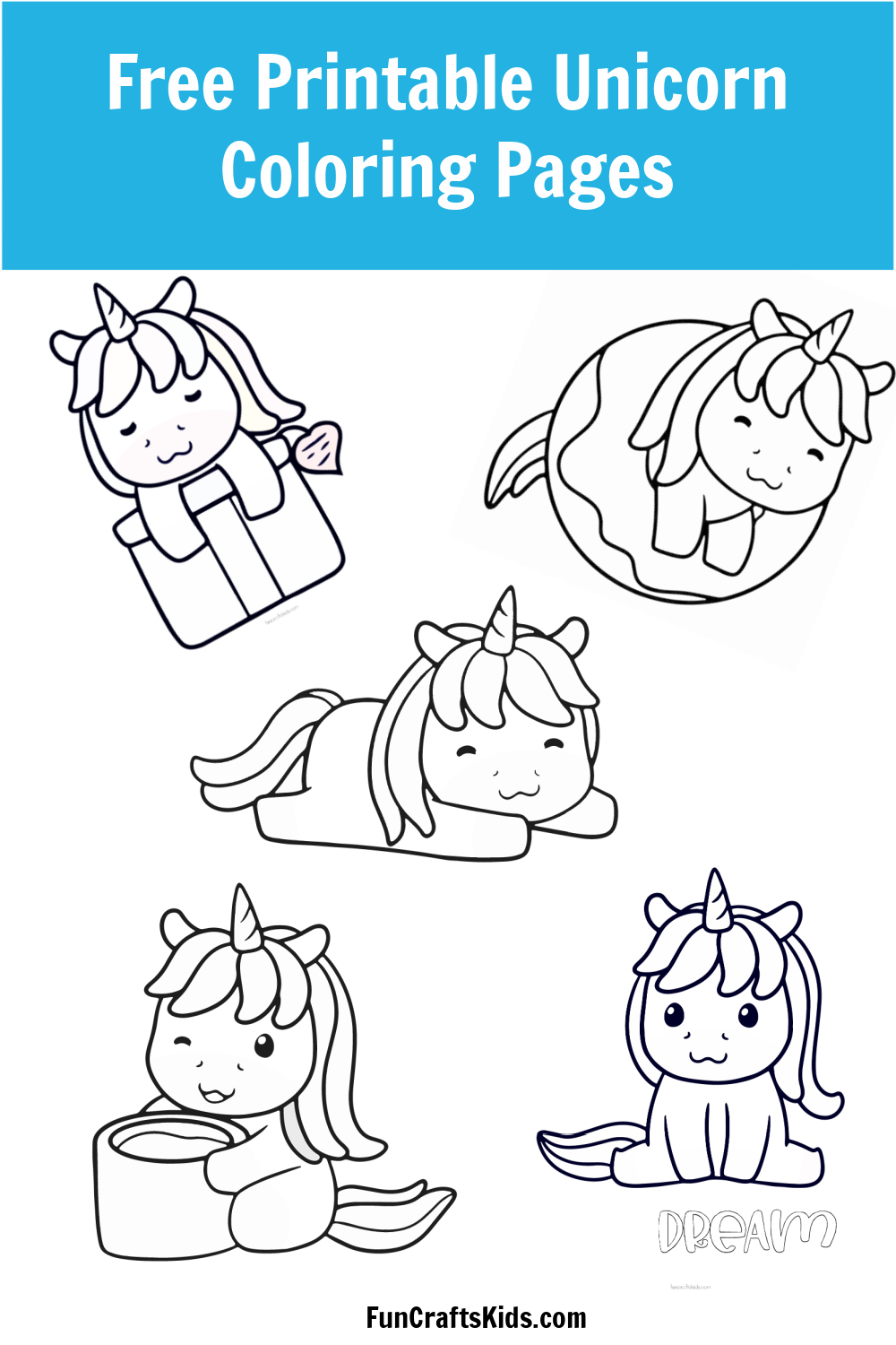 Free Printable Unicorn Coloring Pages   Fun Crafts Kids