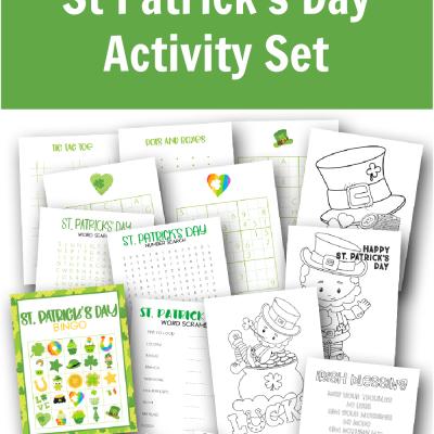 Free Printable St Patrick's Day Activity Set