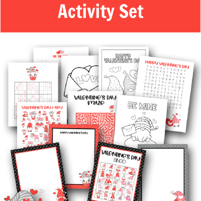 Free Printable Valentine's Day Gnome Activity Set
