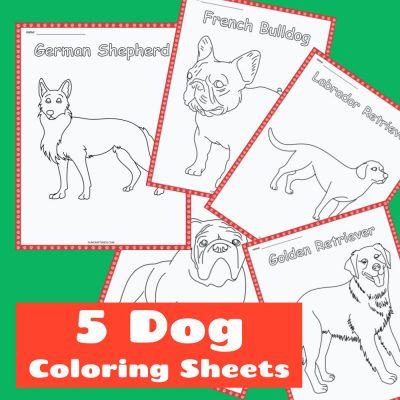 Free Dog Coloring Printables